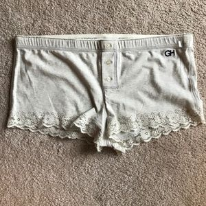 NWT Gilly Hicks Lace Sleep Shorts
